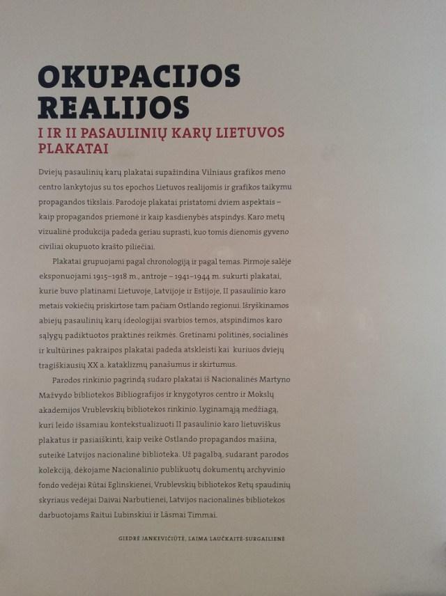 Okupacijos realijos. I ir II pasaulinių karų Lietuvos plakatai