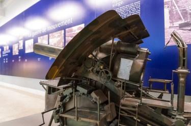 Didžioji Berta. Toks artilerijo įrenginys buvo naudotas Kauno tvirtovės puolime