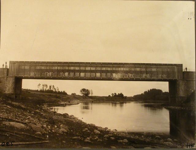 1445. Виленская губерния. Вильна. Вид железнодорожного моста через р. Вилия на 621-й версте.