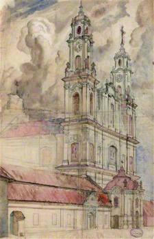 Juozas Kamarauskas. Misionierių bažnyčia Vilniuje, 1894 m.