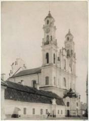 Miron Butkowski. Misionierių vienuolynas ir Viešpaties Dangun Žengimo bažnyčia, apie 1895 m.