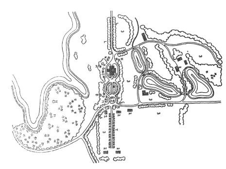 Dvaro sodybos parko schema