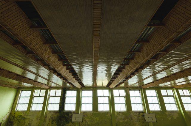 Įdomus, estetiškas lubų sprendimas - įjungus šviesą, lubos virsdavo dirbtinių stoglangių juostomis