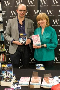 Me and Celia Bryce show off our books.