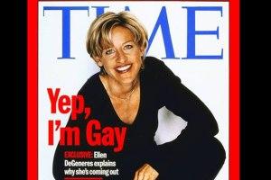 """ellen says """"yep, I'm gay"""""""