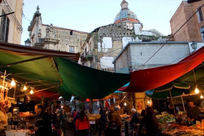 wycieczka objazdowa po Sycylii, Targ w Palermo, Ballaro, Palermo, Sycylia