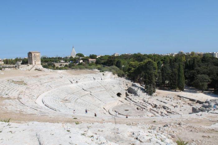 wycieczka objazdowa po Sycylii, Siracusa, Syrakuzy, Teatr w Syrakuzach, Sicilia, Sycylia