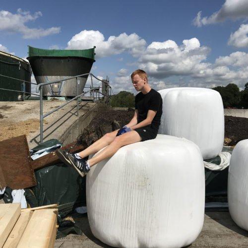 Zeit für eine Pause. Fermentersanierung August 2019, Nierswalder Biogasanlage.