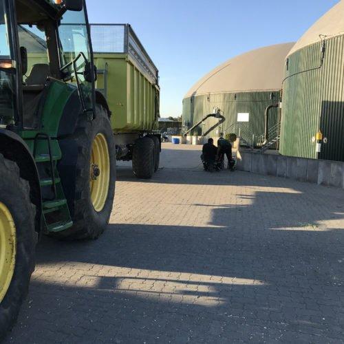Maisernte 2019, Testphase mobile Waage, Einrichtung der mobilen Waage, Nierswalder Biogasanlage