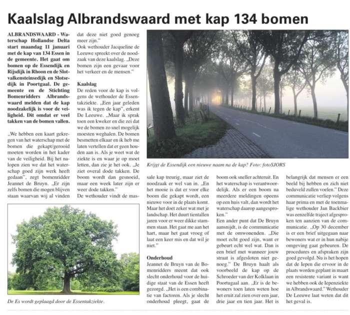Kap 134 bomen