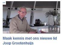 Maak kennis met ons nieuwe lid Joop Grootenhuijs.