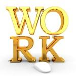 """Letters vormen het woord """"work"""""""