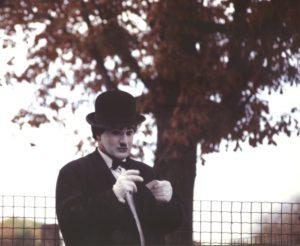 Charlie Chaplin-looklike, copyright foto Gerd Marstedt