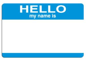 "Naamkaartje ""Hello my name is..."", copyright blogmonkey"