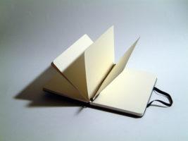 Gebrek aan inspiratie? Schrikbarend leeg notitieboekje, copyright foto Marcel Hol