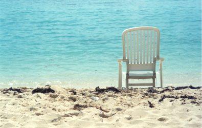 Een paradijselijk strand. Copyright foto: Stephanie Jensen