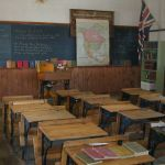Ouderwets klaslokaal. Copyright foto: Vikki Hansen