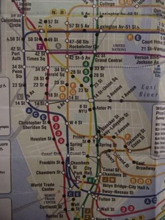 Kaart van de metro in New York. Copyright foto: Ariel Camilo