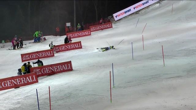 Pinturault se cayó en la segunda manga y perdió la ocasión de acercarse a Hirscher FOTO: Eurosport