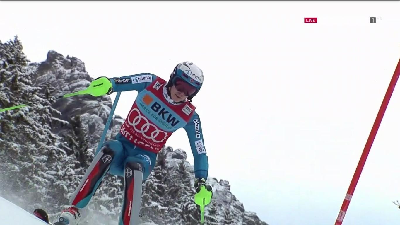 Henrik Kristoffersen ha logrado en el slalom de Wengen su cuarta victoria de la temporada, ecimocuarta en su trayectoria en la Copa del Mundo FOTO: Eurosport