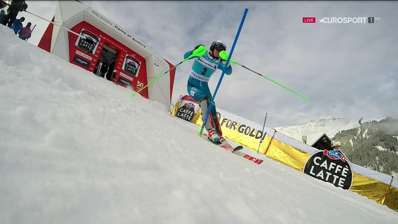 Henrik Kristoffersen, imbatible en el slalom de Adelboden e iguala a Hirscher en la general de la disciplina FOTO: Eurosport