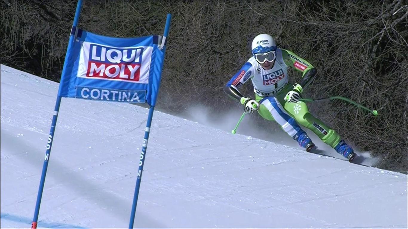Quinta victoria de la temporada para Ilka Stuhec en el super G de Cortina d'Ampezzo FOTO: Eurosport
