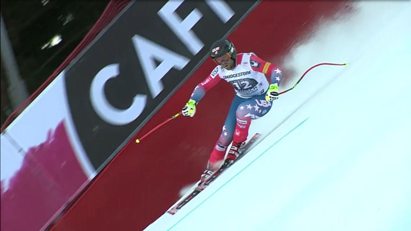 Nadie lo esperaba pero Travis Ganong ha ganado el descenso de Garmisch, su segunda victoria en la Copa del Mundo FOTO: Eurosport