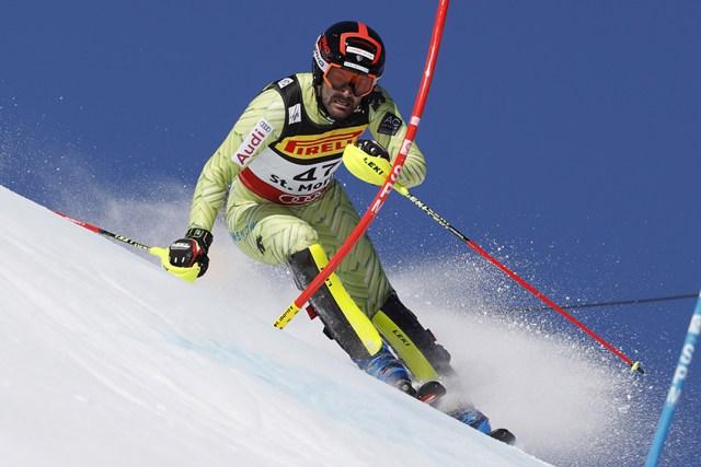 Quim Salarich fue el 25º en el slalom, un resultado ilusionante para el equipo de alpino de la RFEDI FOTO: Eurosport