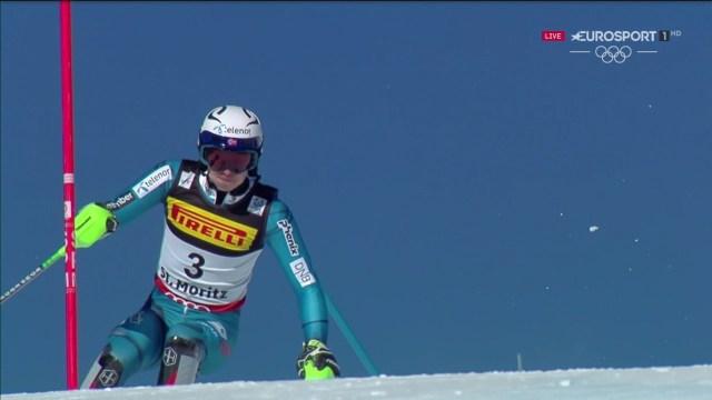 Henrik Kristoffersen, con cinco victorias en siete slaloms disputados en la Copa del Mundo, ha fracasado en su asalto al poidio FOTO: Eurosport
