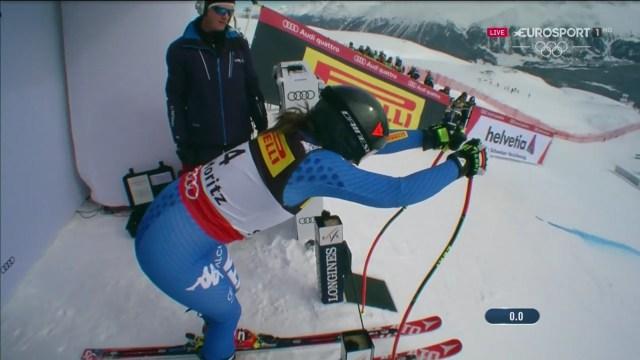 Sofia Goggia es la revelación de la temporada junto a Ilka Stuhec y se colgó el bronce en el gigante, única medalla italiana FOTO: Eurosport
