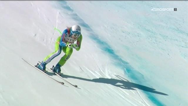 Ilka Stuhec tiene prácticamente en el bolsillo el Globo de descenso, que sería el segundo después de haberse adjudicado el de la combinada FOTO: Eurosport