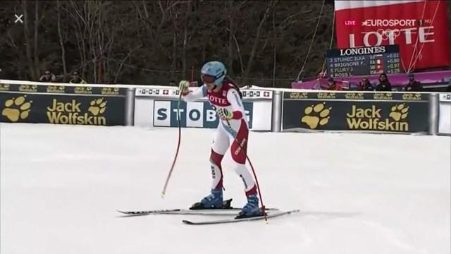 La joven suiza Jasmine Flury ha acabado quinta en su mejor resultado en la Copa del Mundo FOTO: Eurosport