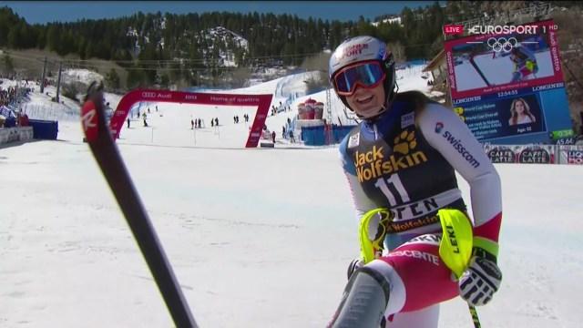 Melanie Meillard, quinta, confirma carrera a carrera un futuro más que prometedor FOTO: Eurosport
