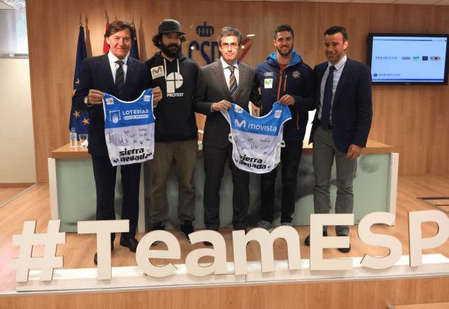 Lucas Eguíbar y Regino Hernández han presentado sus medallas de plata en el CSD