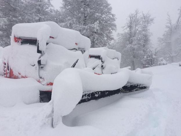 La nieve en Cerro Cahpelco ofrece este paisaje blanco