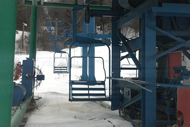 Vista de uno de los telesillas del centro invernal estadounidense