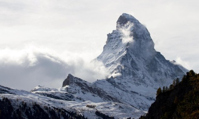 El Matterhorn como telón de fondo de Zermatt