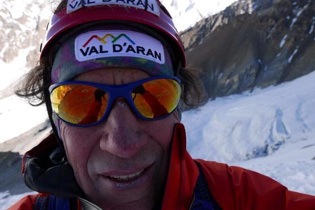 Oscar Cadiah, pletórico tras alcanzar el Broad Peak, la última cima que le faltaba para completar los 14 ochomiles