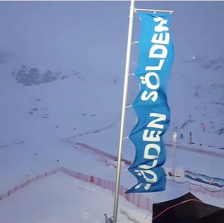 El fuerte viento, la nieve y una escasa visibilidad han obligado a cancelar el gigante masculino de Soelden