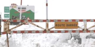 Esta es la imagen más característica después de una nevada en el puerto de Francia de Porté Puymorens