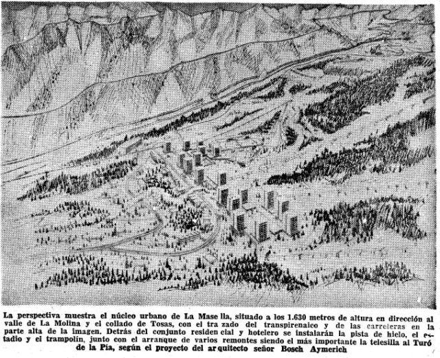 El proyecto inicial de Masella allá por 1967 - Crédito: Hemeroteca La Vanguardia