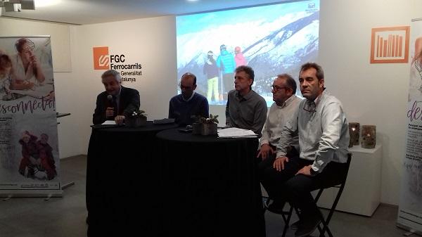 Las estaciones de FGC han presentado la nueva temporada, marcada por el 75 aniversario de La Molina