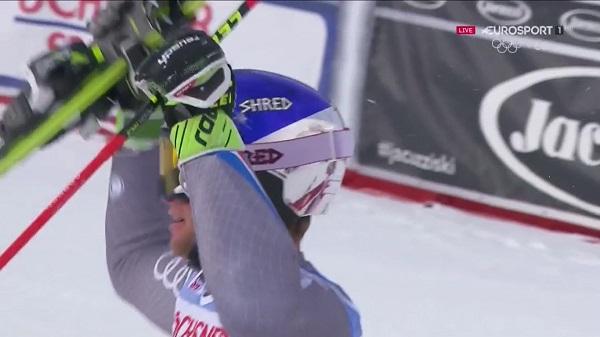 Alexis Pinturault, eufórico tras saberse ganador