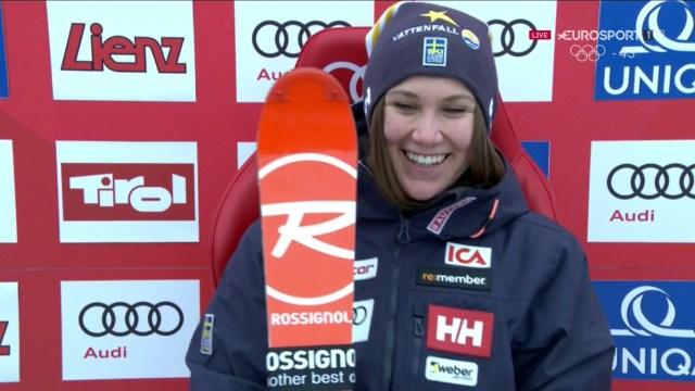 Estelle Alphand ha demostrado que correr para el equipo sueco le está dando resultados. Hoy quinta, su mejor resultado en la Copa del Mundo
