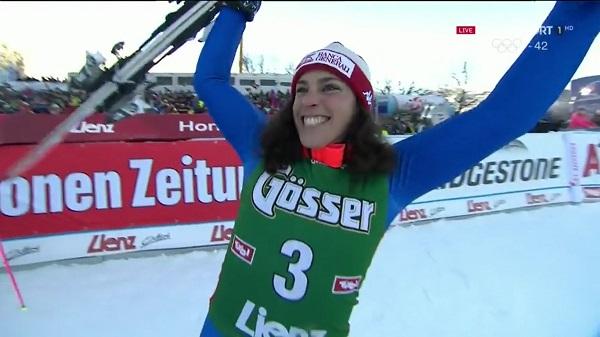 Federica Brignone ha doblegado a Viktoria Rebensburg y Mikaela Shiffrin para ganar el slalom de Lienz