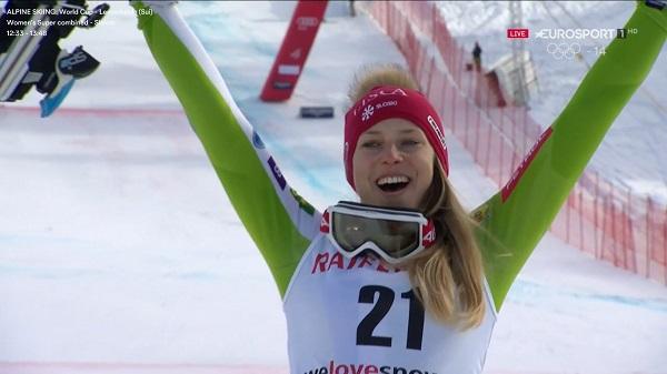 Sensacional slalom de Ana Bucik en el que ha remontado 27 posiciones para lograr el primer podio de su carrera