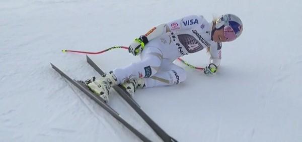 Vonn, tras el super G de St. Moritz, donde acabó con un fuerte dolor de espalda