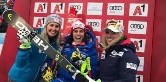 La italiana ha relegado al segundo puesto a la suiza Lara Gut y al tercero a la austriaca Cornelia Hütter
