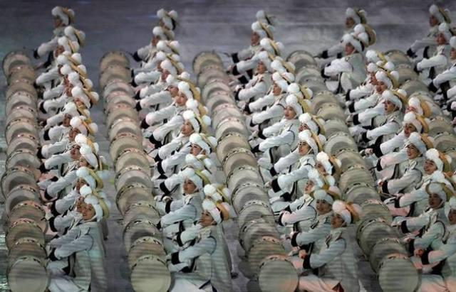Detalles del desfile Pyeongchang