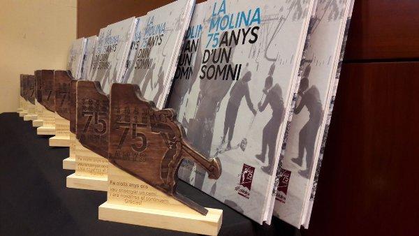 Portada del flamante libro de La Molina con motivo del 75º aniversario